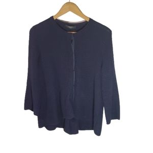 MaxMara weekend chunky knit navy cardigan